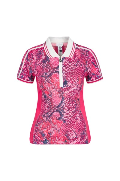 Sporty, feminine shirt with polo collar