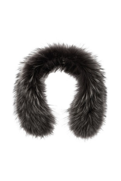 Finnraccoon hooded fur white-gray-coloured