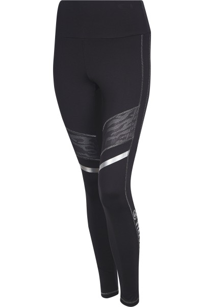Legging with Leo mesh inserts