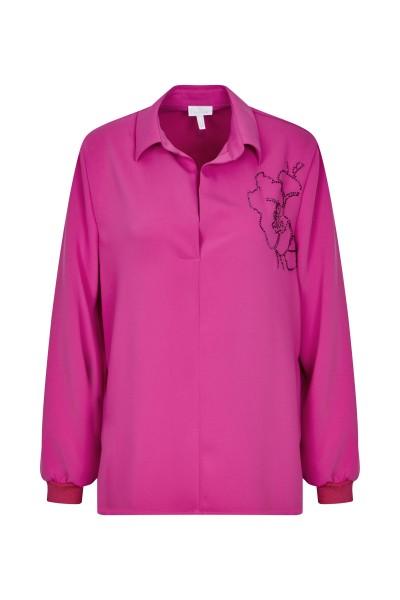 Bluse mit Strassblüten Transfer