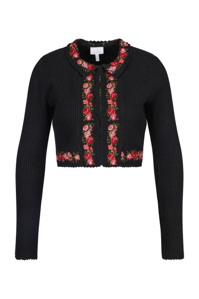 Knitted bolero with flower border