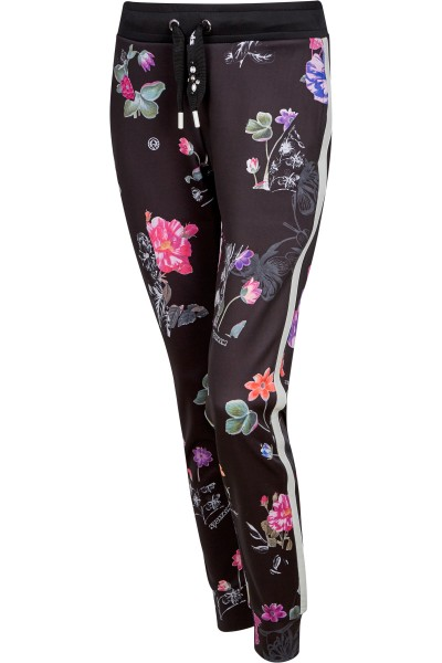 Leger geschnittene Hose im Allover-Print