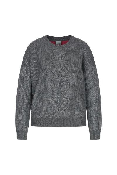 Pullover im Perlfangmuster gestrickt