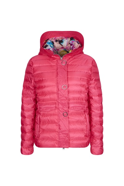Kuschelige Stepp-Jacke mit Kapuze