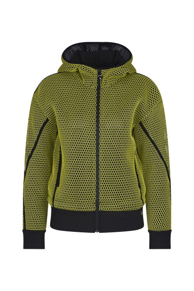 Sweat jacket in mesh quality
