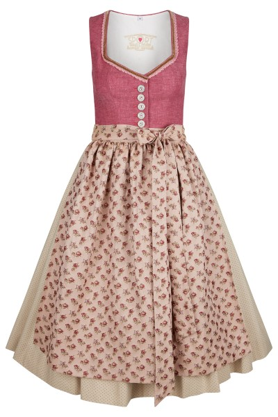 Cute dirndl with button facing