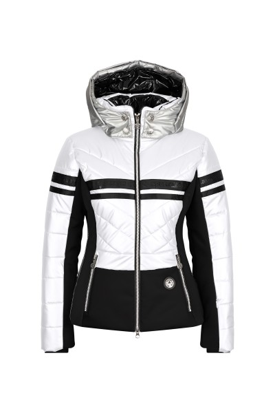 Padded ski jacket in colourblock
