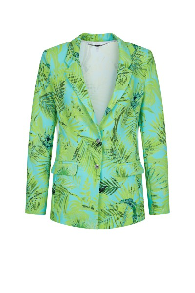 All Over Palm Print Blazer