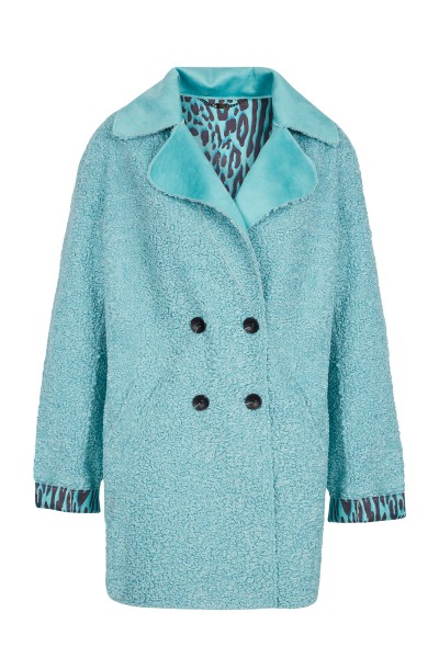 Reversible coat in high quality faux fur