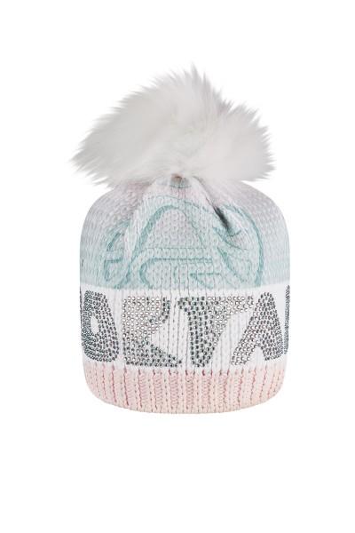 Modische Mütze mit Strassstein Motiv
