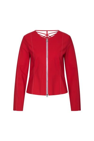 Elegant jacket with laser motif