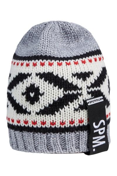 Wool cap with Norwegian pattern