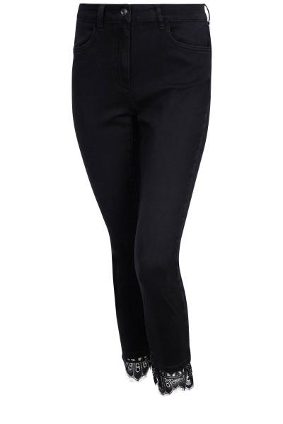 Skinny-Jeans mit Borten-Detail