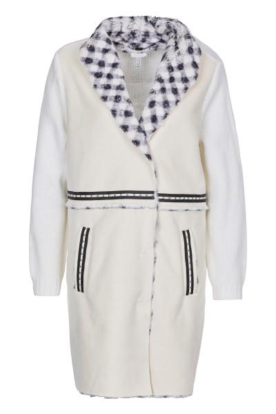 Fake lambskin coat