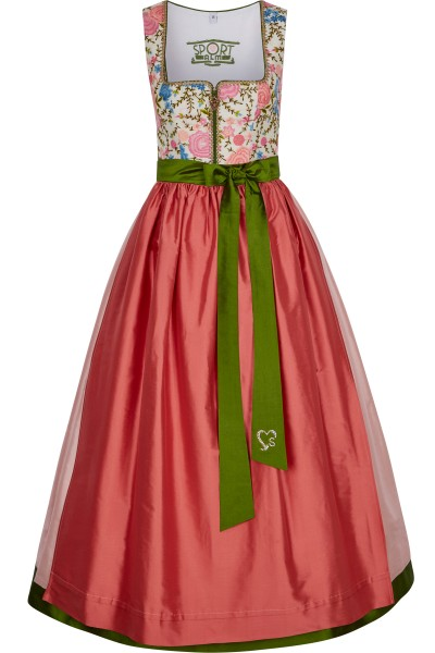 Dirndl made of viscose embroidery