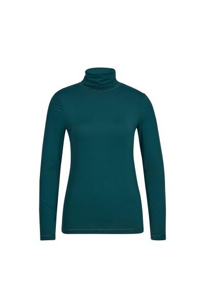 Long-sleeved turtleneck shirt with Rhinestone Sportalm logo