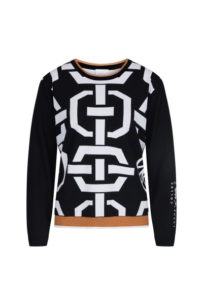 Langarm-Sweater im All Over Druck