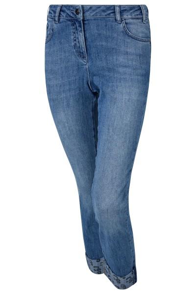 Klassische Five-Pocket-Jeans mit Waschung und Logolaserung