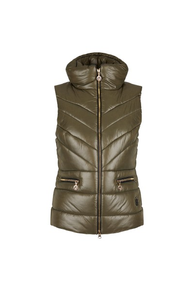 Sporty vest with a wide stand-up collar