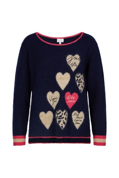 Sweater with cute hearts