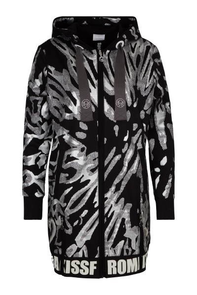 Printed sweat coat