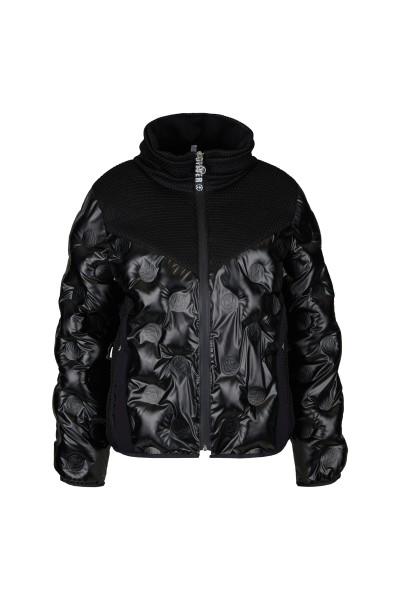 Padded jacket with embossed Sportalm logos and fashionable collar
