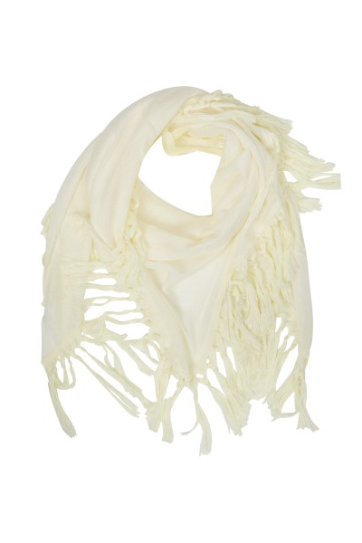 Folkloristic scarf with fringed edge