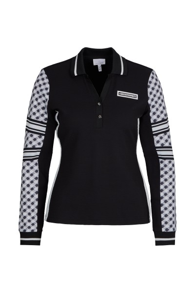 Poloshirt in Waffle Jersey