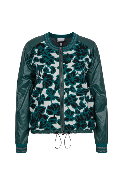 Blouson with casual pattern
