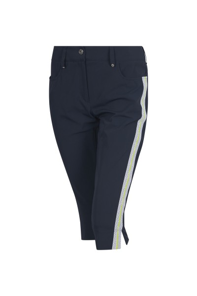Capri trousers with side galon stripes