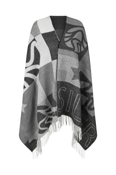 Wollschal mit eingewebten Sportalm Design