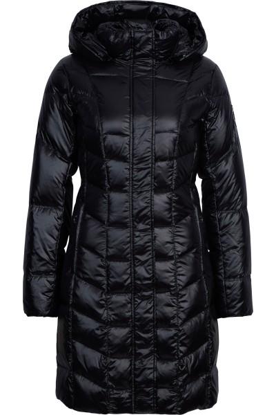 Down coat with hood