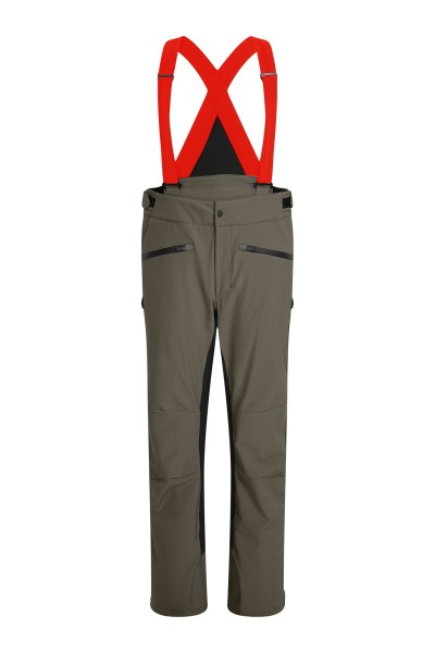 Ski bib trousers with side stripes inserts