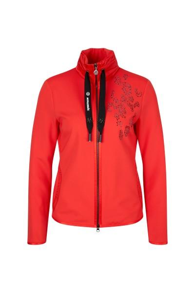 Sporty-feminine sweat jacket