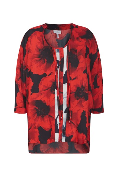 Blouse in all-over floral print