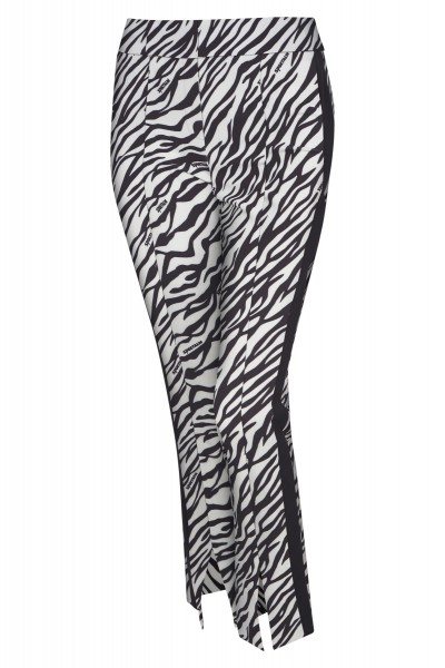 Trousers in all-over floral print