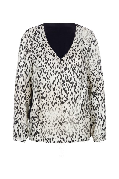 Bluse im Allover-Leoprint