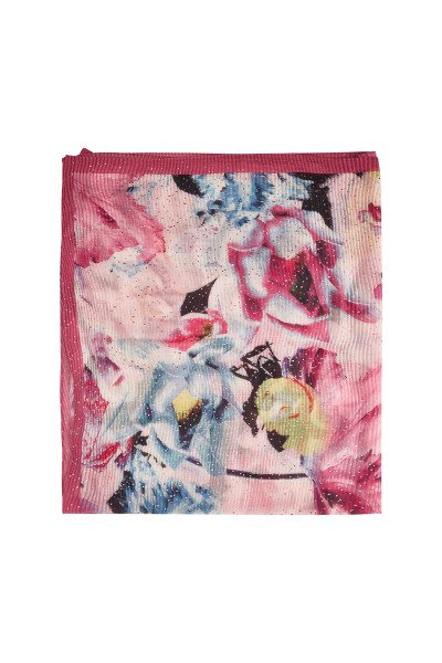 Pleated colourful scarf
