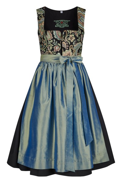 Dirndl with noble brocade top and silk apron