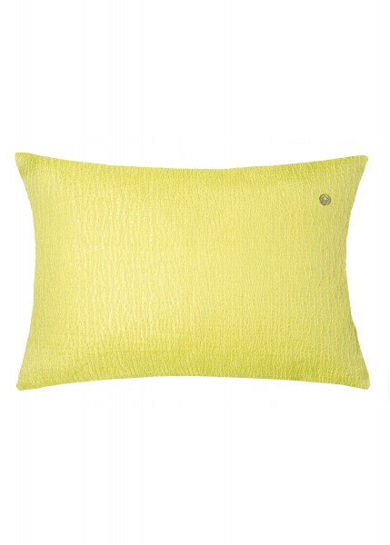 Decorative cushion cover in a sunny yellow shade