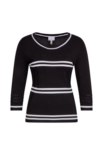 Sweater with contrast stripes