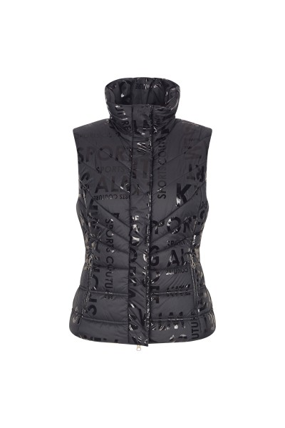 Quilted vest with a high collar
