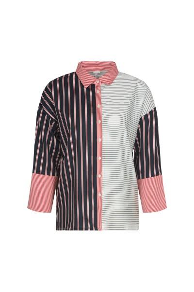 Striped print shirt blouse