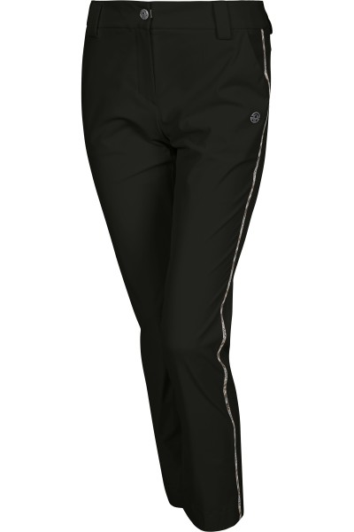 Narrow cut trousers with lateral galon stripes
