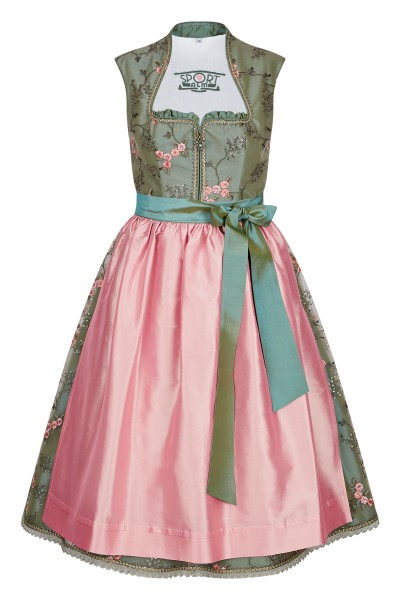 Embroidered tulle dirndl