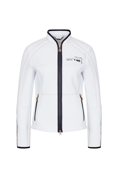 Stretch jacket with fashionable seam