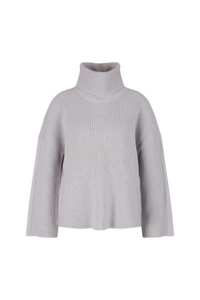 Perlfang-Pullover aus hochwertiger Wollmischung mit langen Ärmel