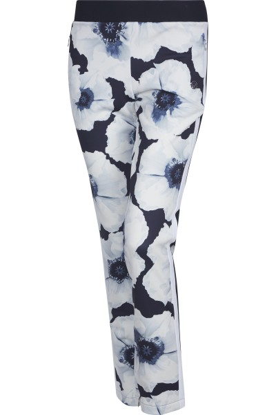 Summery floral print trousers