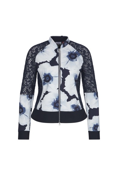 Sporty casual jacket in all over floral print