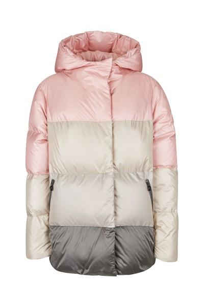 Four colour nylon real down jacket